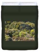 Roadside Forest Scenery Duvet Cover