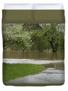 Roadway Turned Boat Launch Duvet Cover