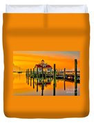 Roanoke Lighthouse Dawn Duvet Cover