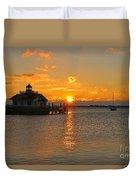 Roanoke Marshes Lighthouse 3210 Duvet Cover