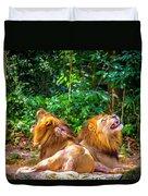 Roaring Lions Duvet Cover