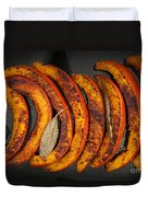 Roasted Pumpkin Slices Duvet Cover