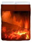 Face In The Fire Duvet Cover