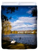 Roath Park Lake Duvet Cover