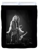 Robert Plant And Jimmy Page Duvet Cover