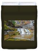Robert Treman Waterfall Duvet Cover