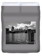 Roberto Clemente Bridge Pittsburgh Duvet Cover