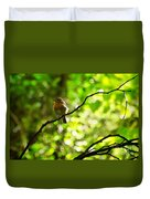 Robin In The Glade Duvet Cover