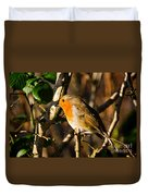 Robin In The Hedgerow Duvet Cover