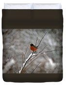Robin In Winter Duvet Cover