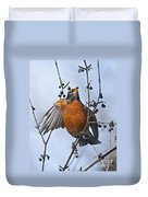 Robin Pictures 84 Duvet Cover