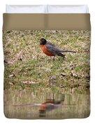 Robin Reflection Duvet Cover