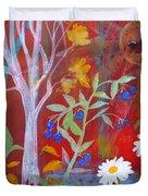 Robin's Blueberry Daisy Sunshiny Day Duvet Cover