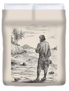 Robinson Crusoe On His Island Duvet Cover