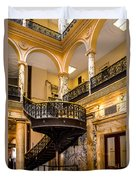 Rochester City Hall Stairs Duvet Cover