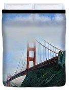 Rock And Golden Gate Duvet Cover