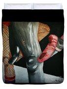 Rock And Roll Ballet Duvet Cover