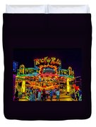 Rock And Roll On The Boardwalk Duvet Cover