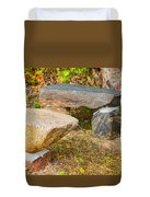 Rock Bench And Table Duvet Cover