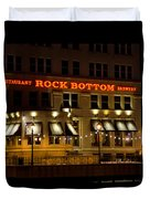 Rock Bottom - Milwaukee  Duvet Cover