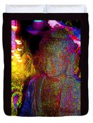 Rock Buddha Duvet Cover