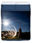 Rock Cairn With Light Painting Next Duvet Cover