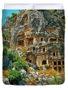 Rock-carved Tombs In Myra-turkey Duvet Cover