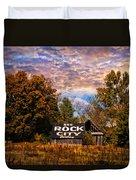 Rock City Barn Duvet Cover by Debra and Dave Vanderlaan