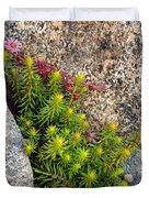 Rock Flower Duvet Cover