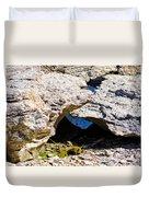 Rock Formation Devonian Fossil Gorge Duvet Cover