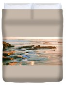 Rock Formations At Windansea Beach, La Duvet Cover