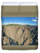 Rock Formations In Black Canyon Duvet Cover