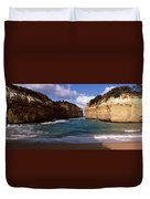 Rock Formations In The Ocean, Loch Ard Duvet Cover