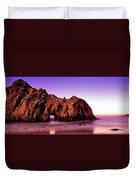 Rock Formations On The Beach, Pfeiffer Duvet Cover