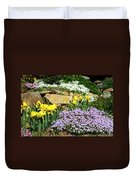 Rock Garden Flowers Duvet Cover