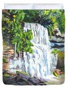 Rock Glen Falls Ontario Canada Duvet Cover