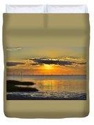 Rock Harbor Sunset 2 Duvet Cover