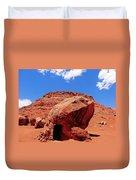 Rock House In Arizona Duvet Cover
