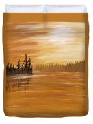Rock Lake Morning 1 Duvet Cover