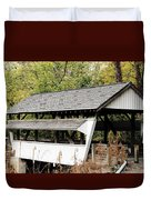 Rock Mill Covered Bridge Ohio Duvet Cover