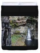 Rock Mill Water Fall In Ohio Duvet Cover