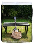Rock N Roll Guitar In A Bag Duvet Cover