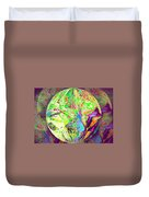 Rock 'n Roll In Crazy-gushing Colours Duvet Cover