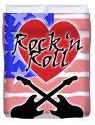 Rock N Roll Stars N Stripes Duvet Cover