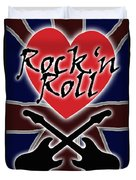 Rock N Roll Union Jack Duvet Cover