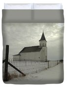 Rock Of Ages In North Dakota Duvet Cover