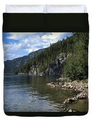 Rock Pools On Christina Lake Duvet Cover