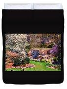 Rock Quarry Garden Duvet Cover