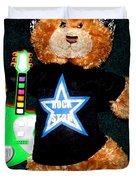 Rock Star Teddy Bear Duvet Cover