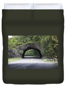 Rock Tunnel On Kelly Drive Duvet Cover by Bill Cannon
